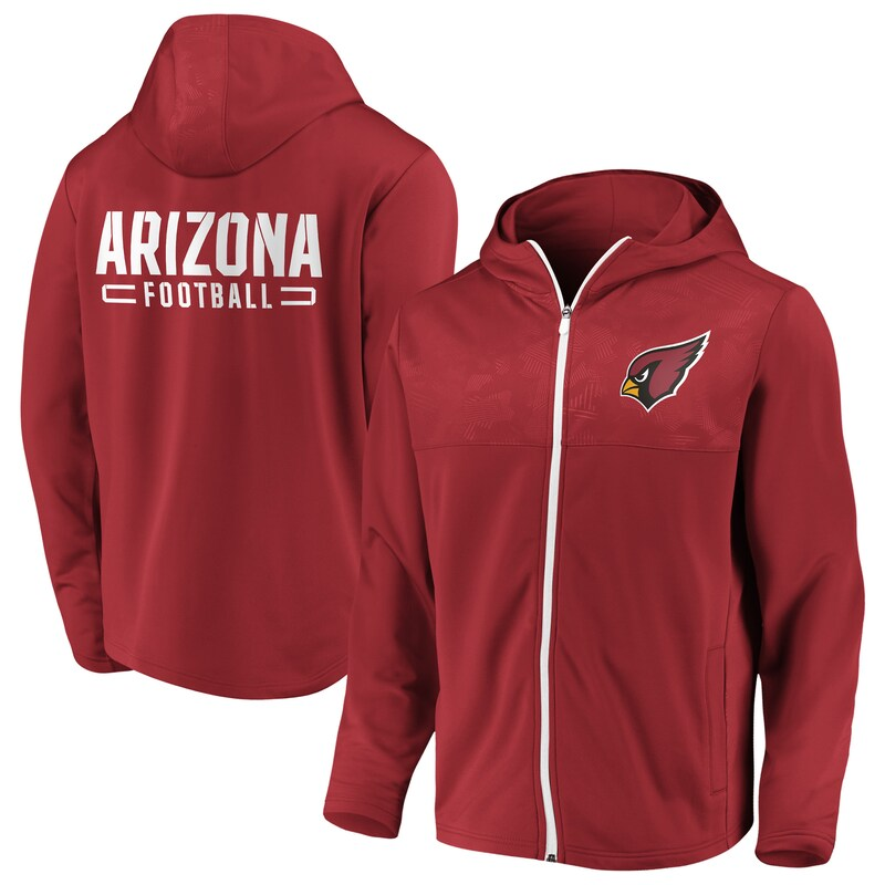 "Arizona Cardinals - Mikina s kapucí ""Iconic Defender Mission Primary"" - na zip, červená"