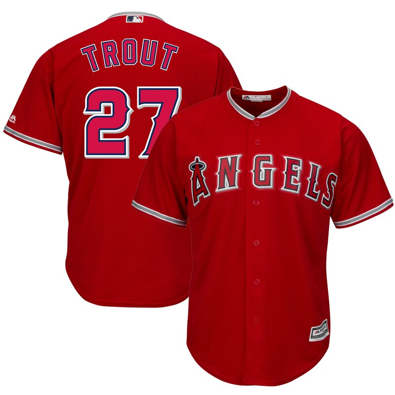 Los Angeles Angels of Anaheim - Dres basebalový - Cool Base, červený, Mike Trout
