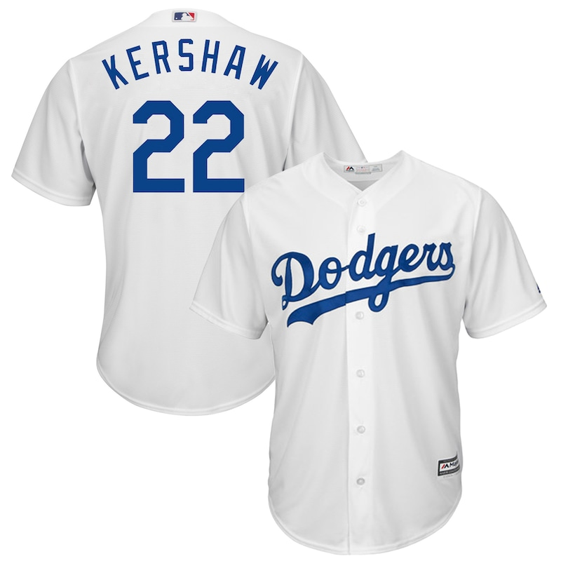 Los Angeles Dodgers - Dres basebalový - Cool Base, Clayton Kershaw, bílý