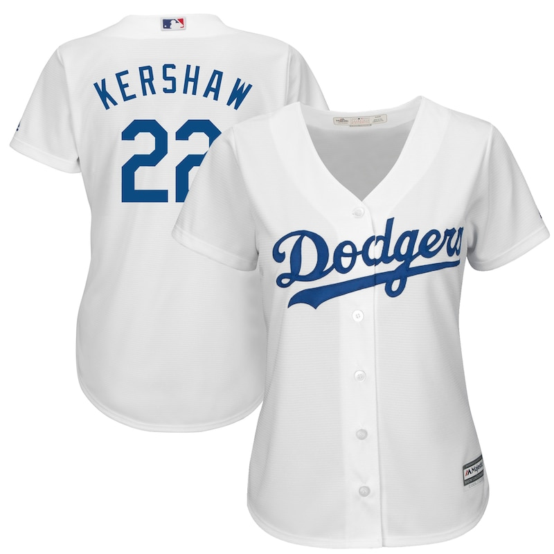 Los Angeles Dodgers - Dres basebalový dámský - Cool Base, Clayton Kershaw, bílý