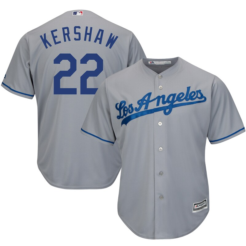 Los Angeles Dodgers - Dres basebalový - Cool Base, Clayton Kershaw, šedý