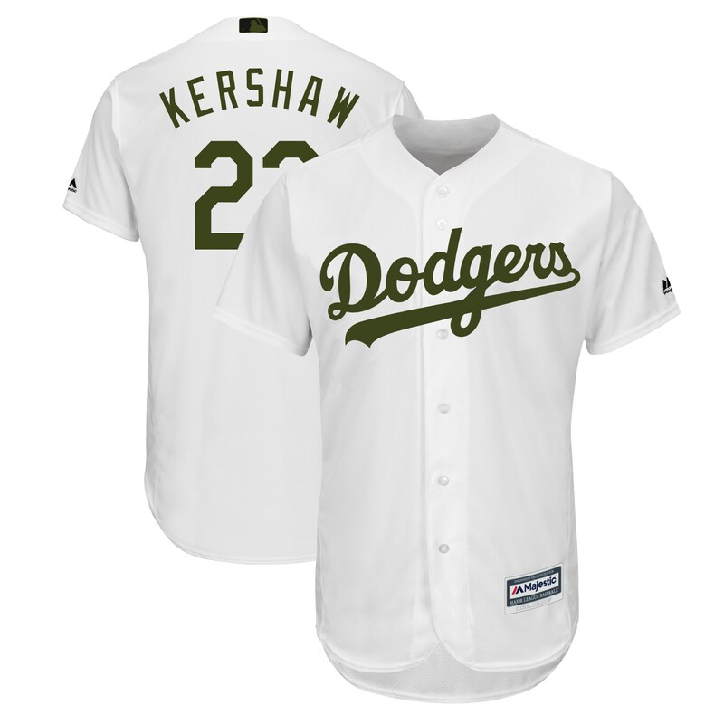 Los Angeles Dodgers - Dres basebalový - 2018, Cool Base, Clayton Kershaw, bílý, Memorial Day