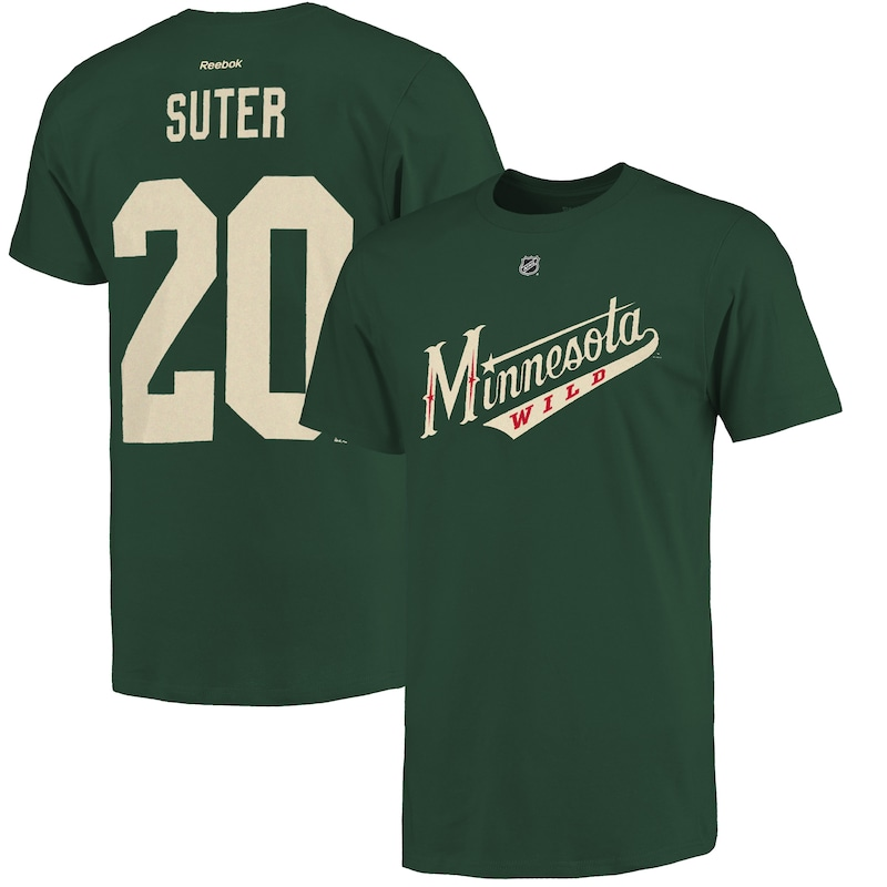 "Minnesota Wild - Tričko ""Name and Number Player"" - Ryan Suter, zelené"