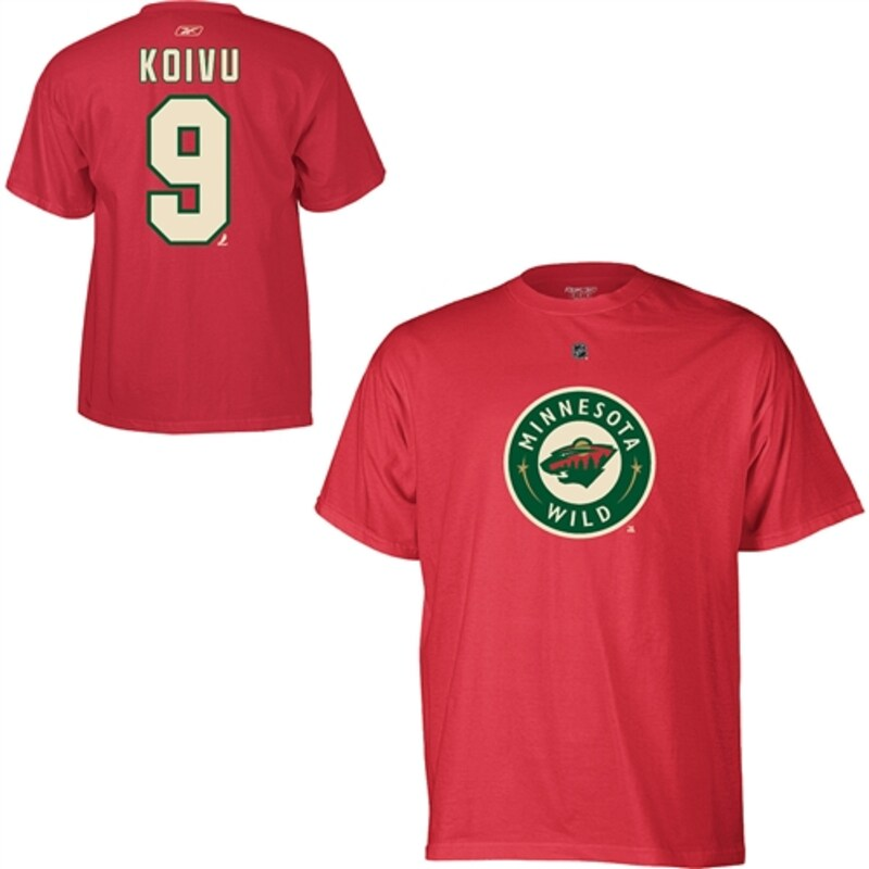 "Minnesota Wild - Tričko ""Name and Number Player"" - Mikko Koivu, červené"
