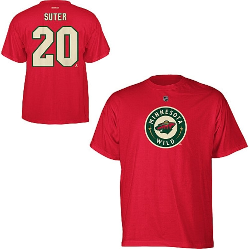 "Minnesota Wild - Tričko ""Name and Number Player"" - Ryan Suter, červené"