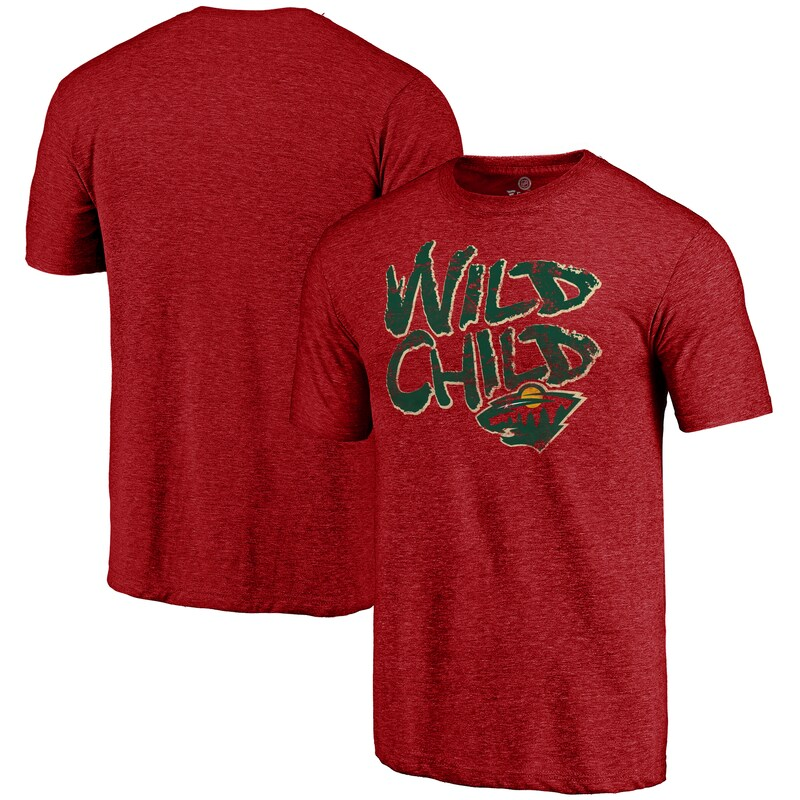 "Minnesota Wild - Tričko ""Hometown Wild Child"" - červené, tri-blend"