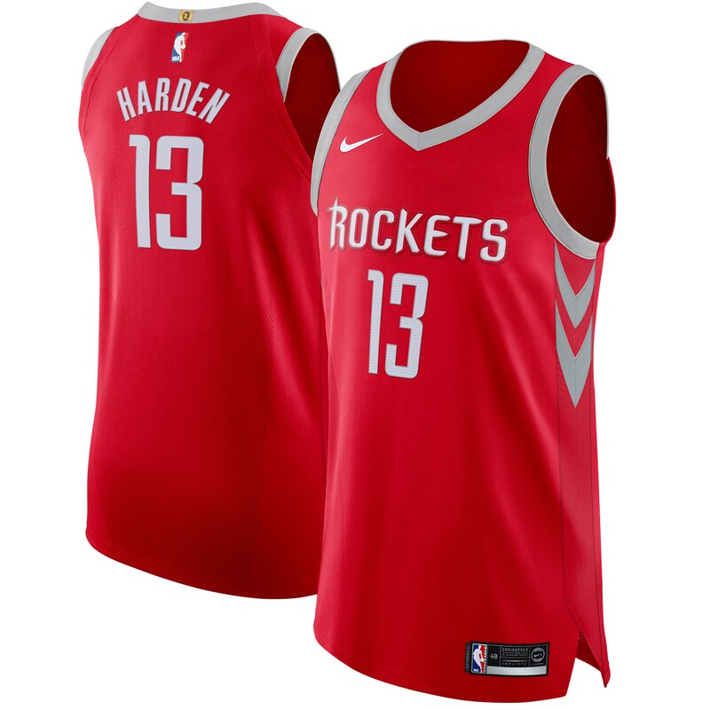 Houston Rockets - Dres basketbalový - edice Icon, autentický, červený, James Harden