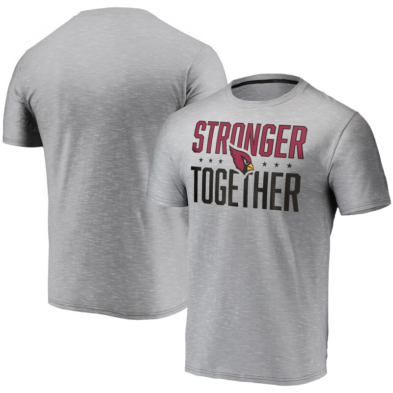 "Arizona Cardinals - Tričko ""Stronger Together"" - šedé, space dye"