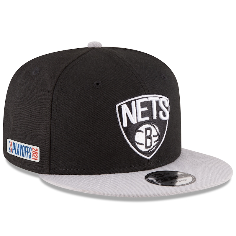 "Brooklyn Nets - Kšiltovka 9FIFTY ""Side Two Tone"" - černošedá, 2021, Playoffs, snapback, nastavitelná"