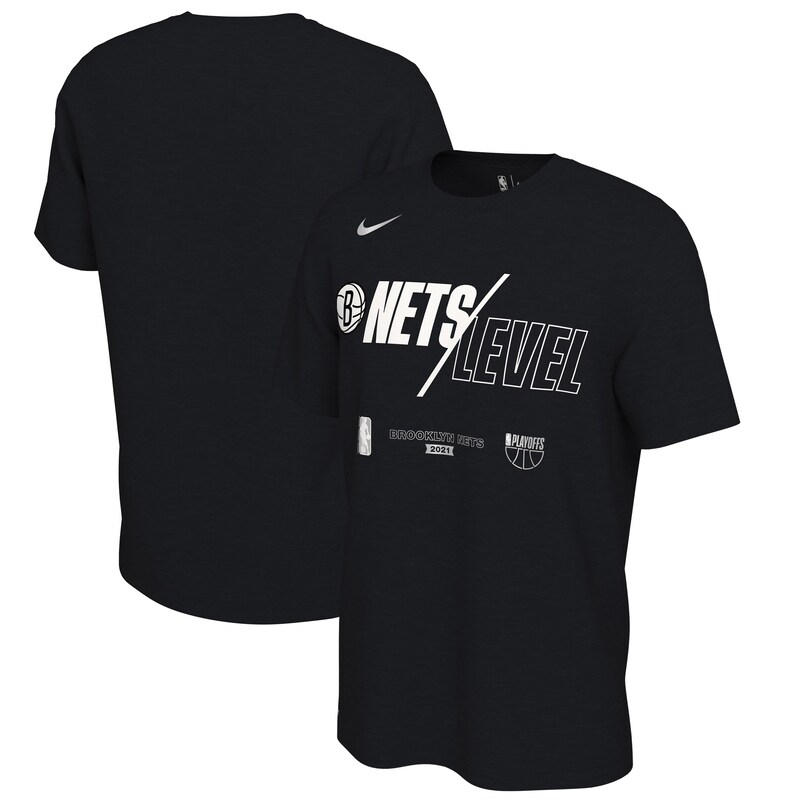 "Brooklyn Nets - Tričko ""Mantra"" - 2021, Playoffs, černé"